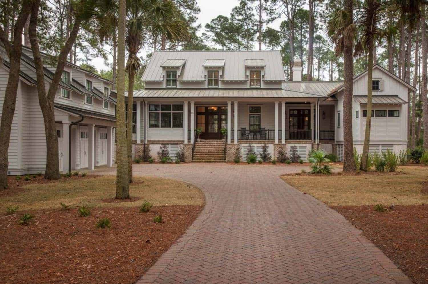 Modern meets traditional in this inviting Lowcountry river house