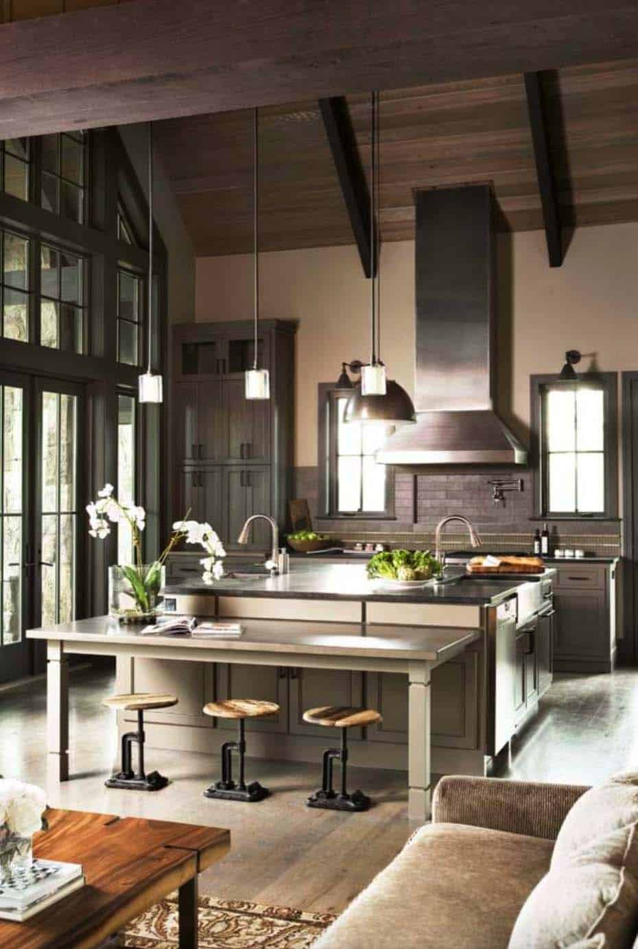 40 unbelievable rustic kitchen design ideas to steal - Sherwin williams foothills interior ...