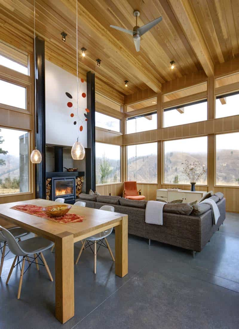 contemporary-cabin-living-room