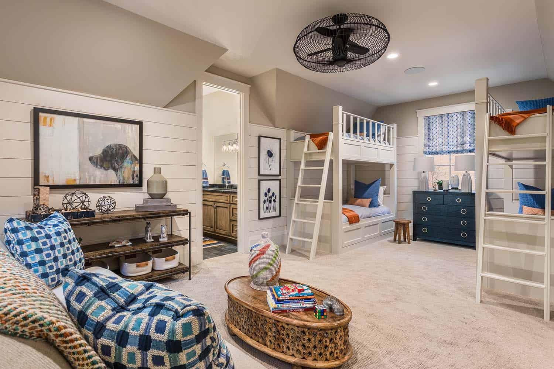 contemporary-model-home-kids-bunk-bedroom