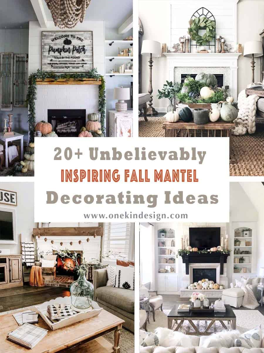 20+ Unbelievably Inspiring Fall Mantel Decorating Ideas