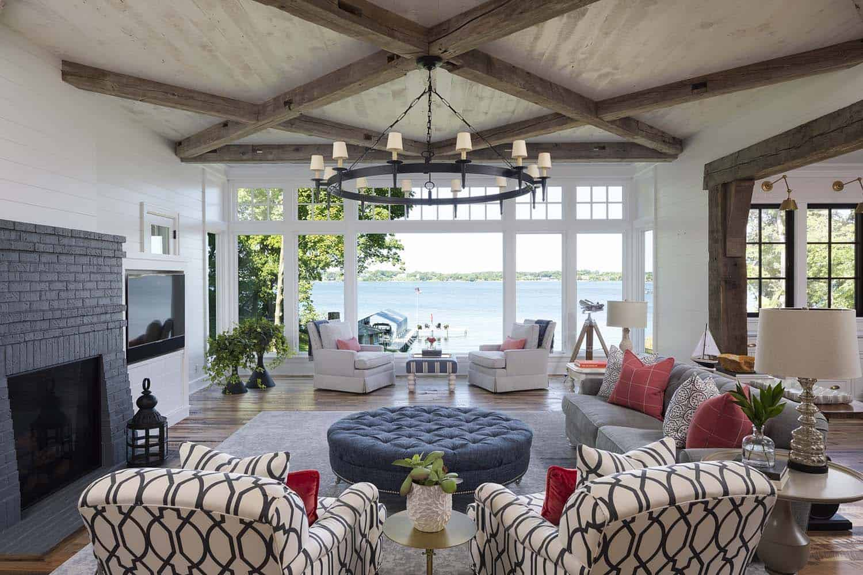 Stunning Modern Farmhouse With A Coastal Twist On Lake