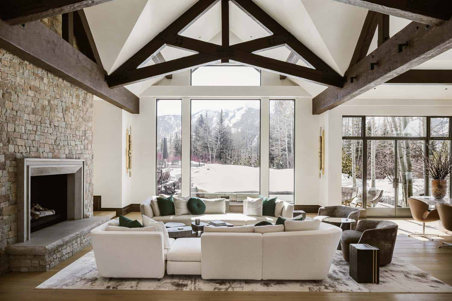 Modern mountain retreat in Aspen offers luxurious yet comfortable living