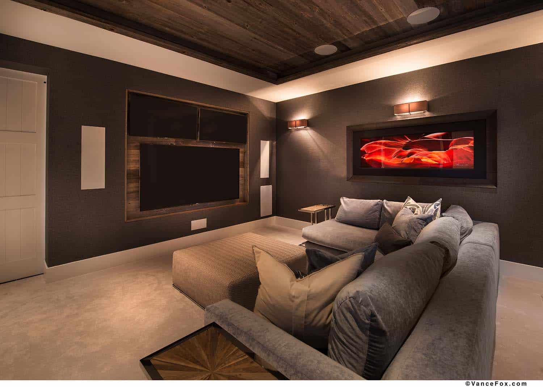 mountain-modern-cabin-home-theater