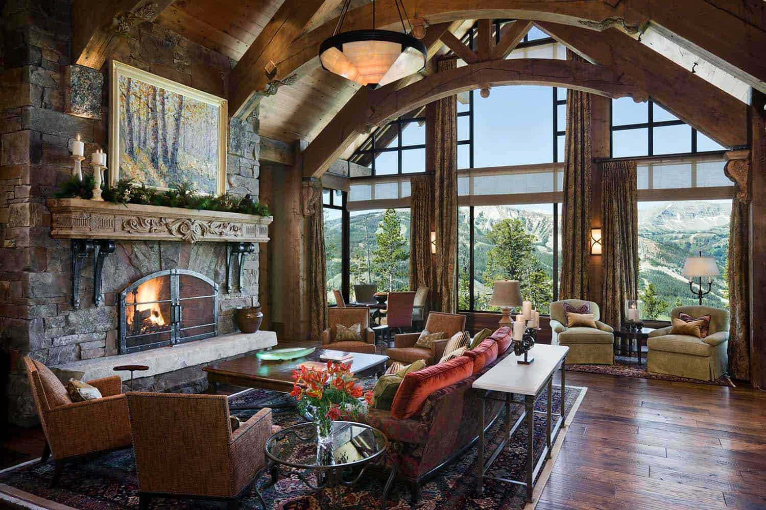 Rustic mountain home with breathtaking views over Big Sky Country