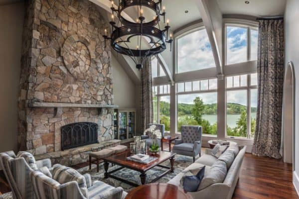 featured posts image for Tour this gorgeous traditional style home perched over Lake Keowee