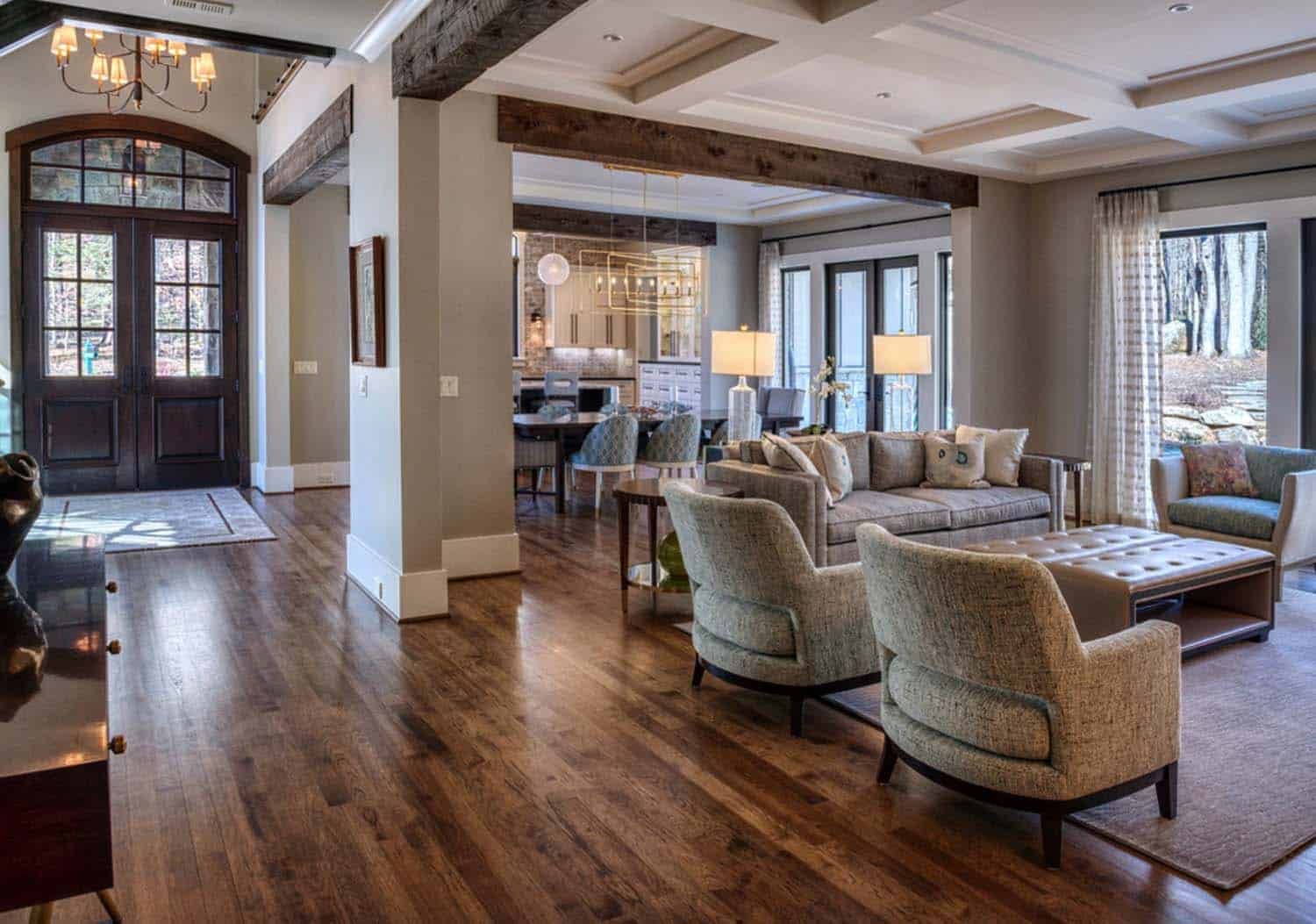 transitional-mountain-home-contemporary-hall