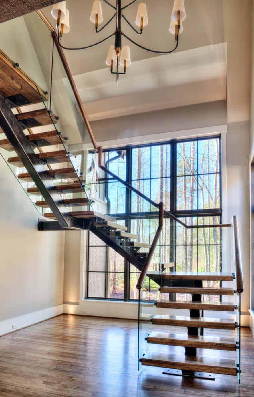 transitional-mountain-home-contemporary-staircase