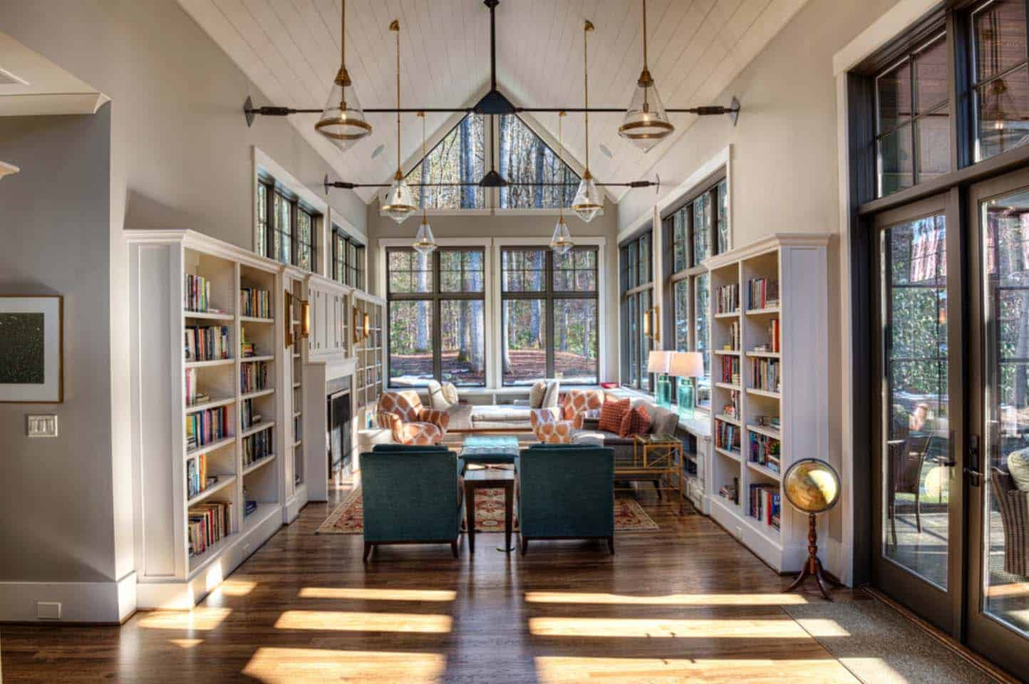 transitional-mountain-home-contemporary-home-library