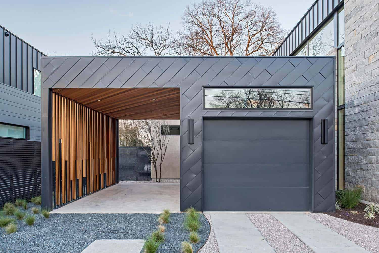 contemporary-home-exterior-garage