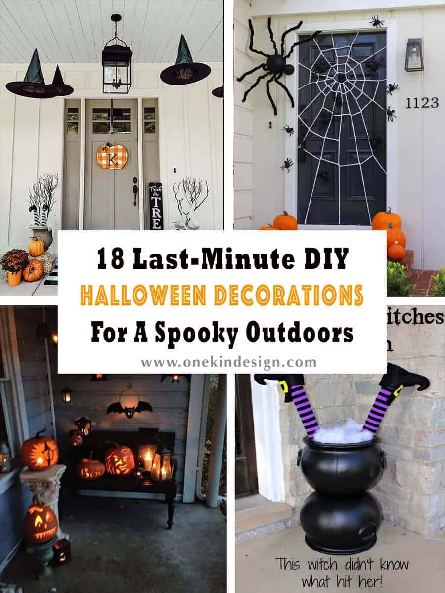 18 Last Minute DIY Halloween Decorations For A Spooky Outdoors