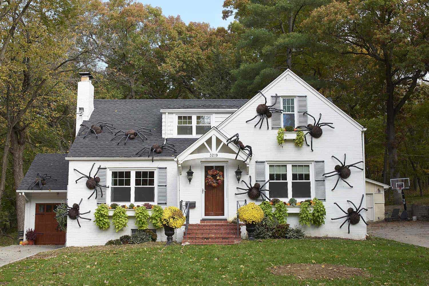 diy-halloween-decoration-outdoors-spiders