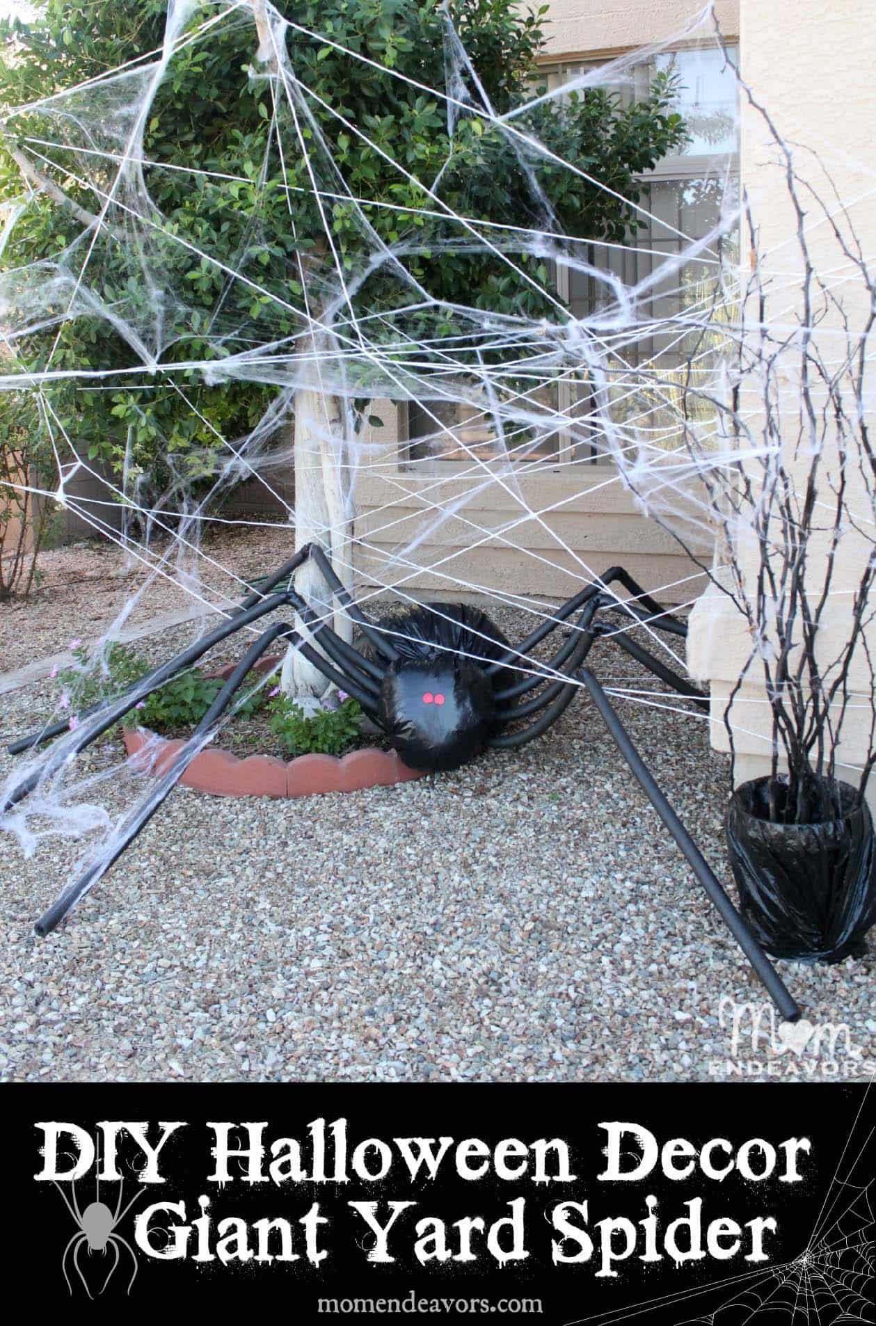 diy-halloween-decoration-outdoors-giant-spider-web