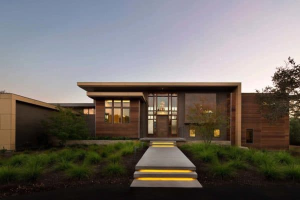 featured posts image for Fascinating split-level home on a oak-nestled property in Portola Valley