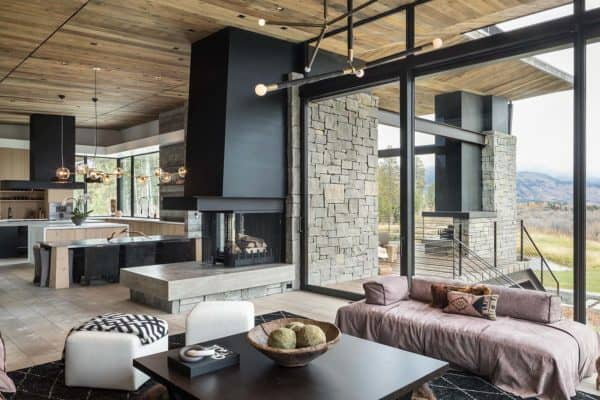 featured posts image for Exquisite mountain modern home overlooking the Teton Mountain Range