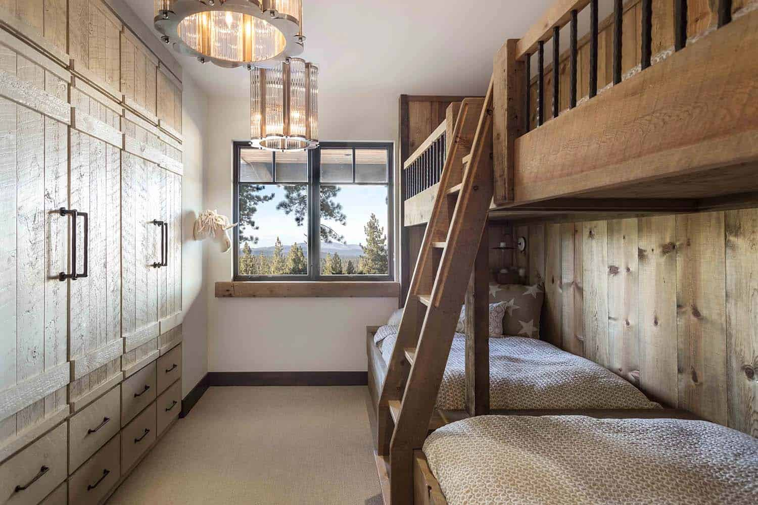 rustic-contemporary-kids-bunk-bedroom