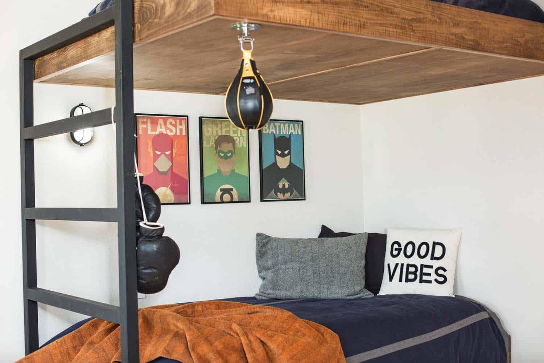 rustic-contemporary-kids-bunk-bedroom
