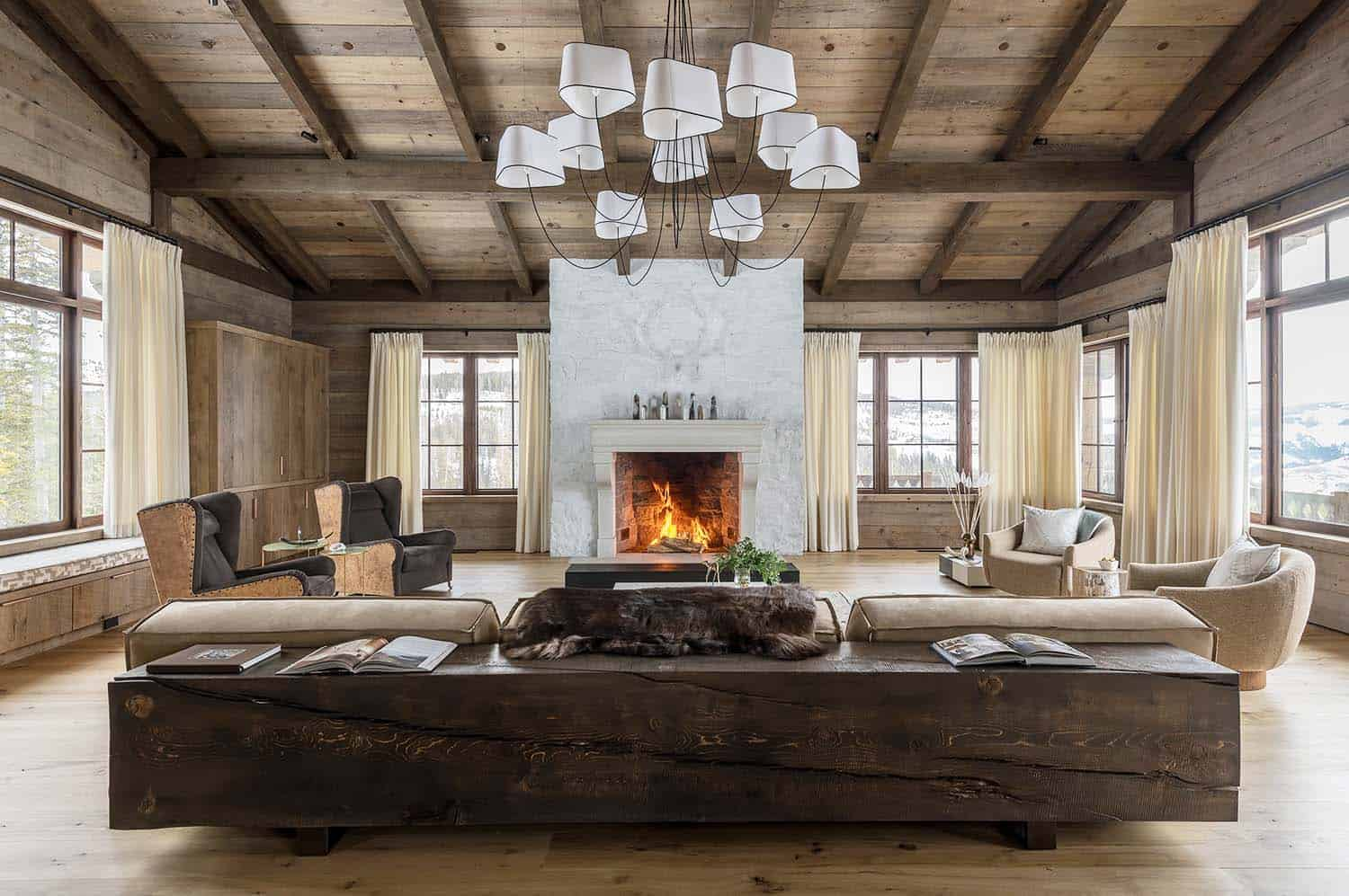 Ski Chalet Interior Design swiss chalet-inspired home provides cozy refuge in snowy montana