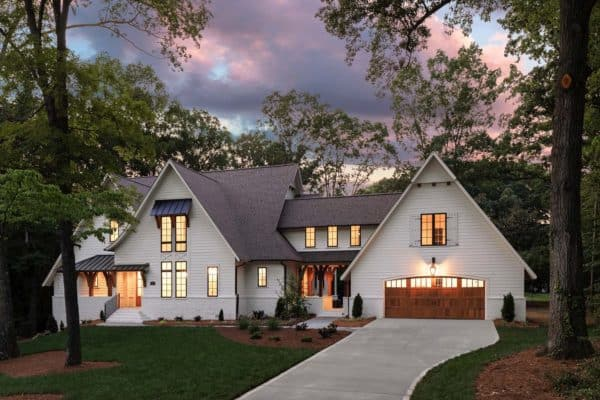 featured posts image for Triple gable European home with delightful details in North Carolina