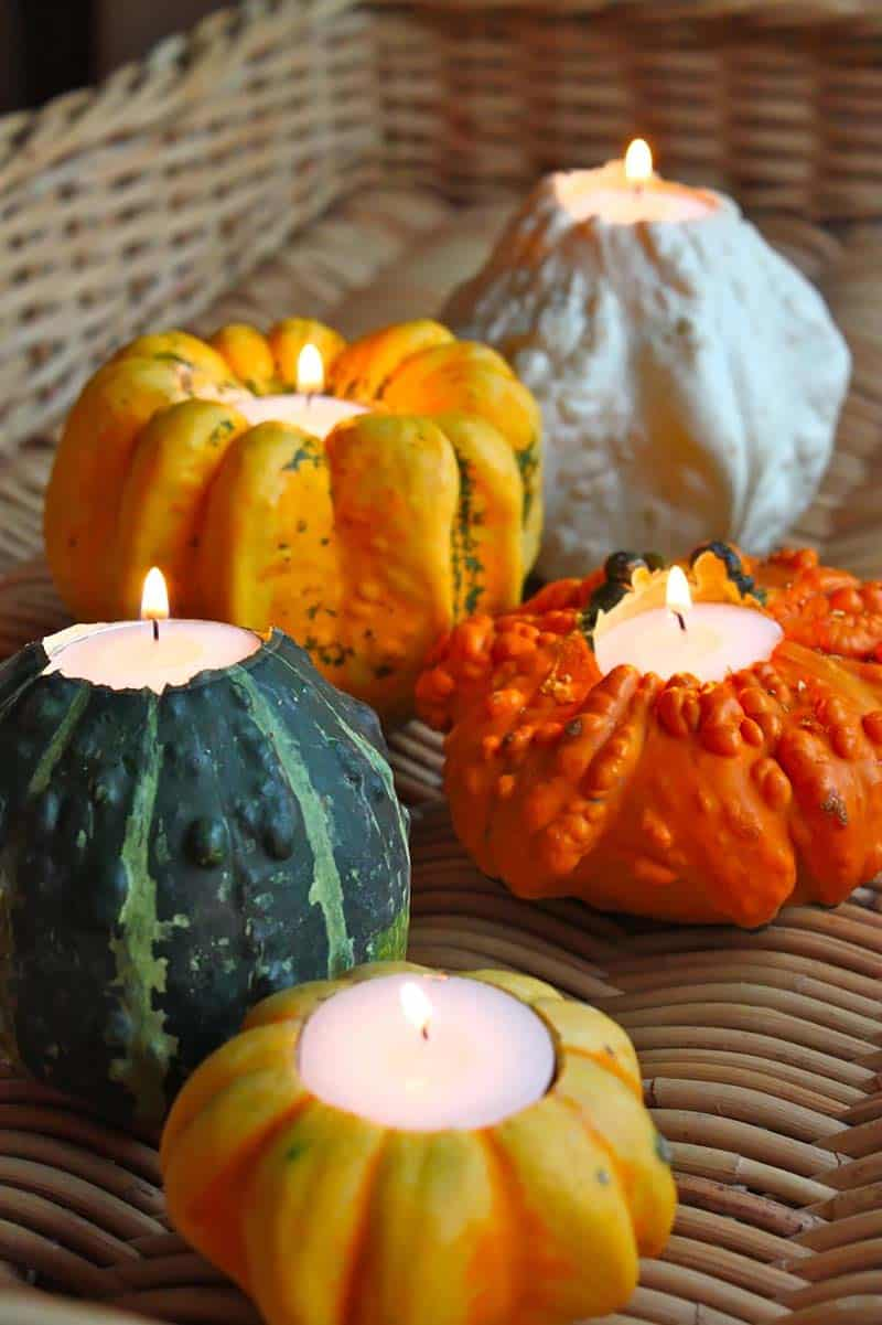 thanksgiving-decor-ideas-gourd-tealight-holders