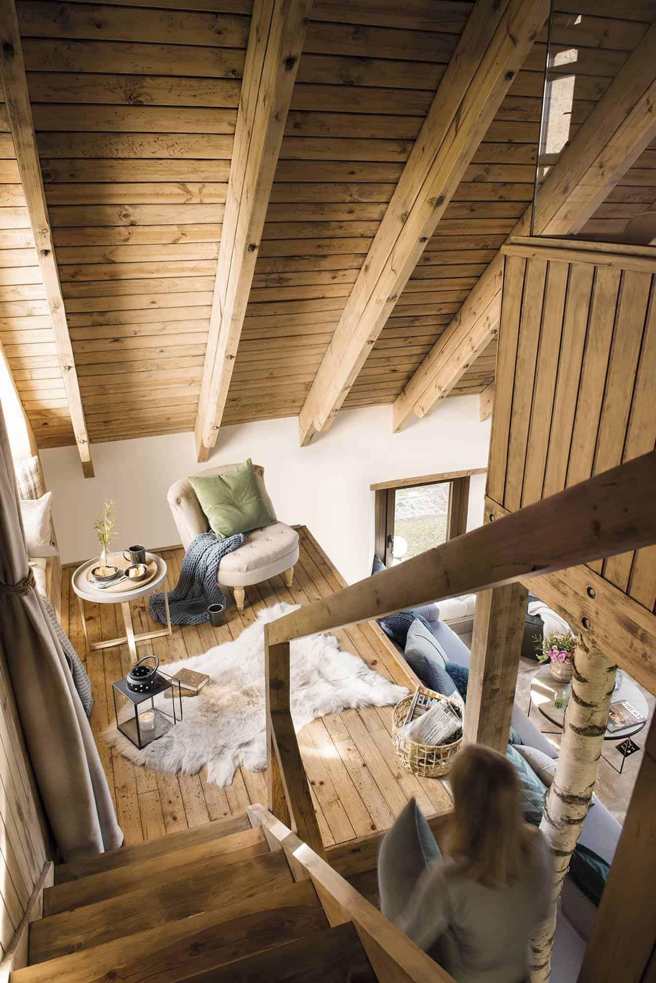 mountain-cabin-staircase