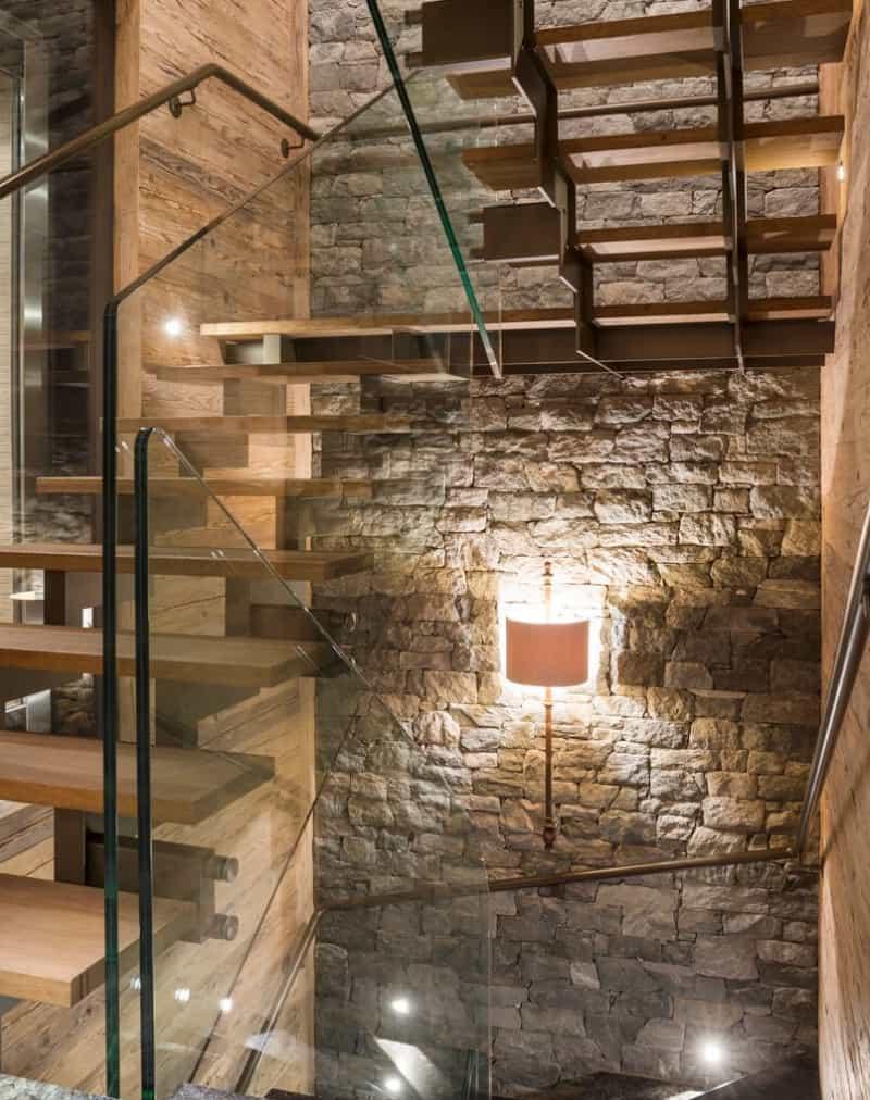 mountain-ski-chalet-staircase