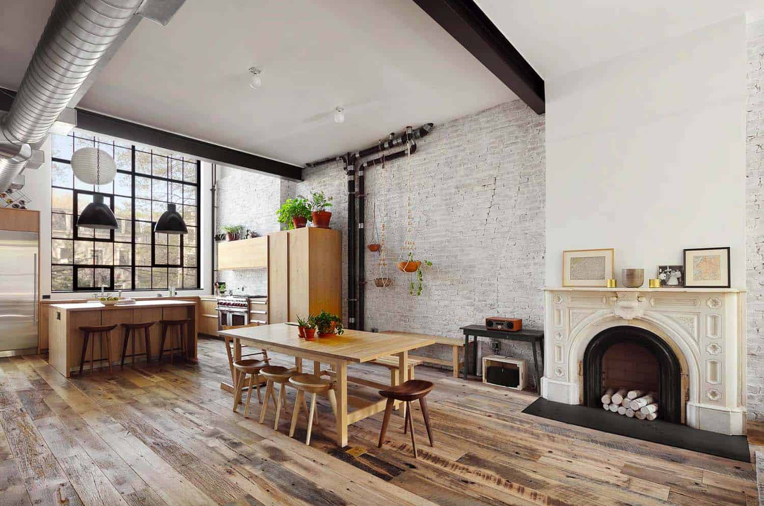 townhouse-kitchen-and-dining-room-industrial-style