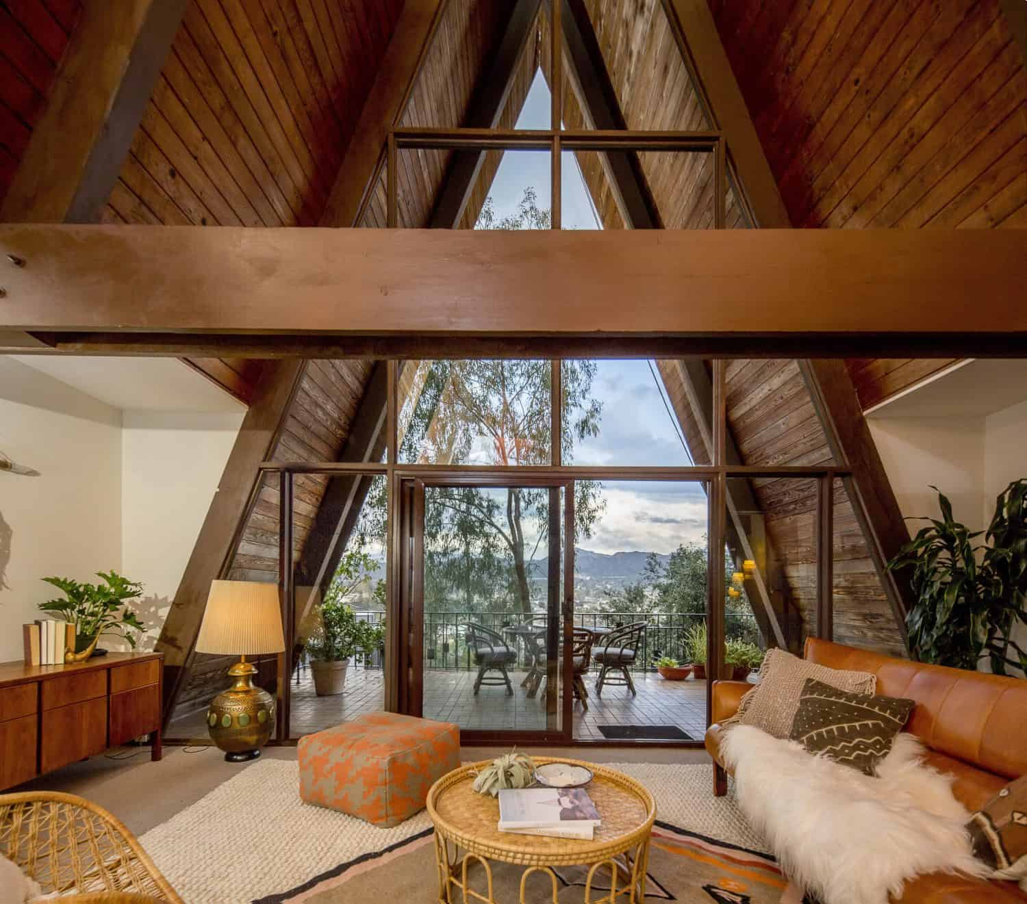 mid-century-modern-a-frame-living-room