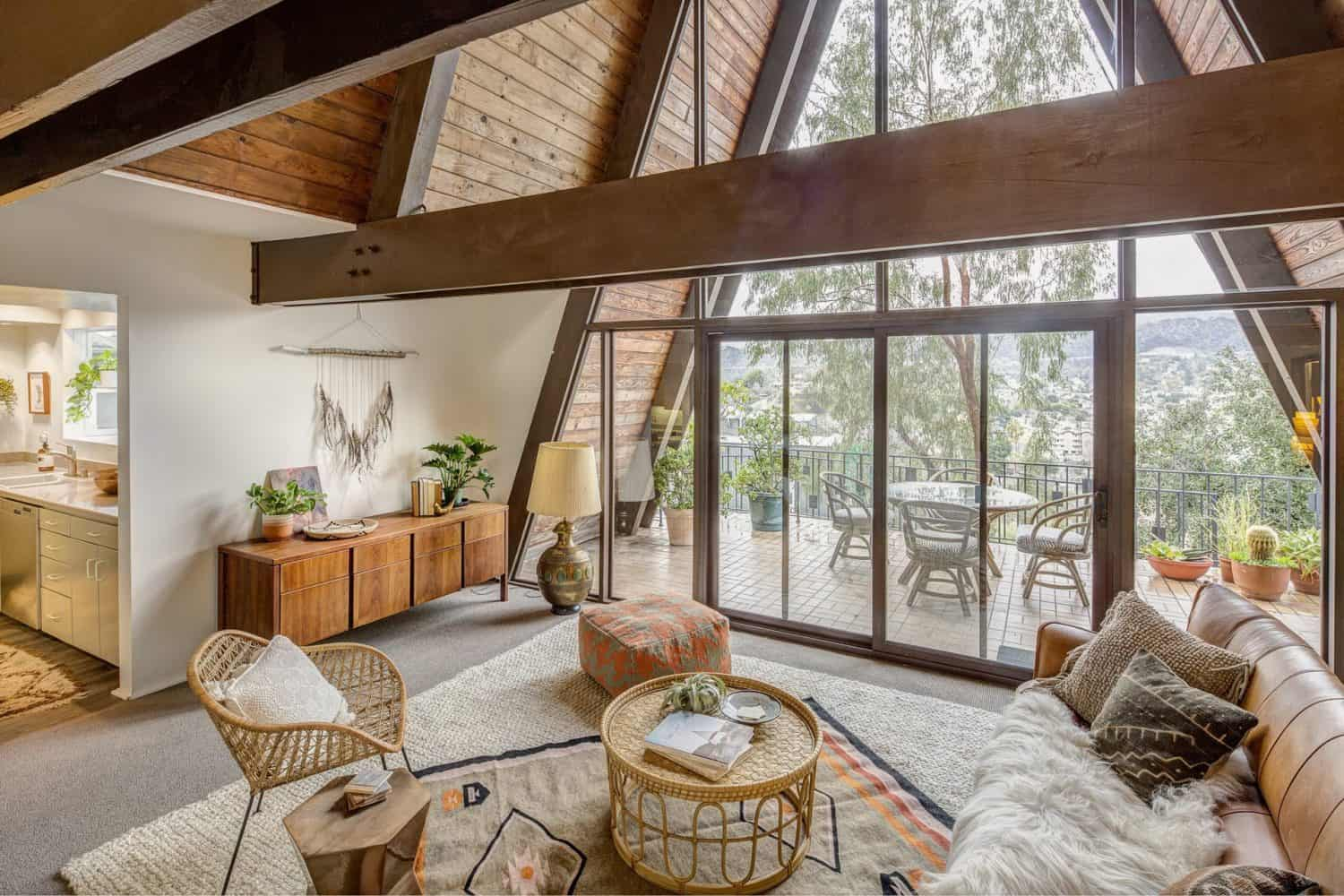 Iconic mid-century A-frame boasts stunning views over ...