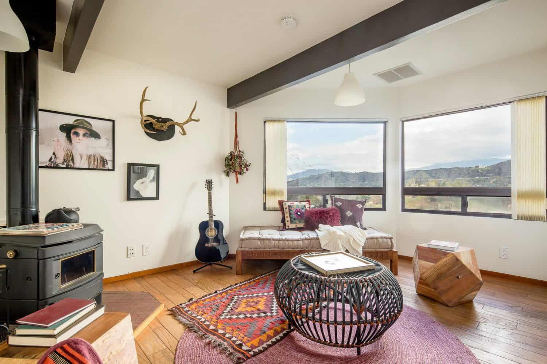 mid-century-modern-a-frame-family-room