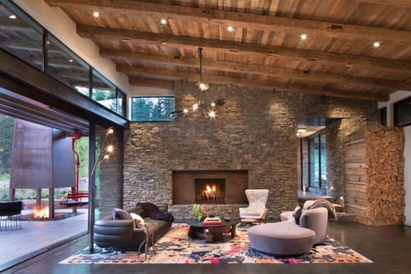 featured posts image for Impressive modern-rustic home showcases views of the Rocky Mountains