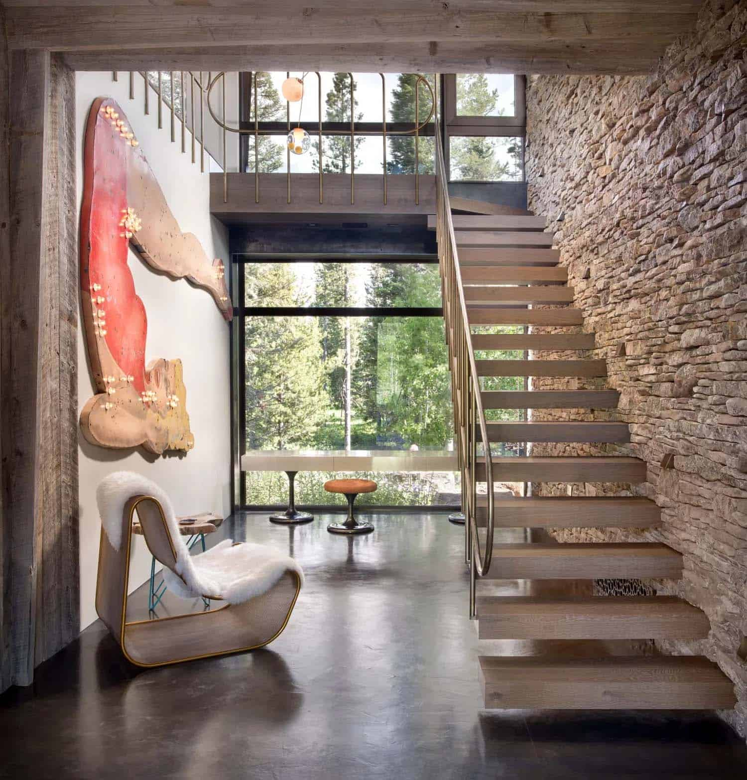 modern-mountain-home-staircase