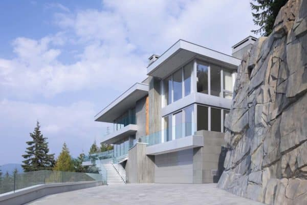 featured posts image for Fascinating modern home emerges out of a steep rocky hillside in Whistler