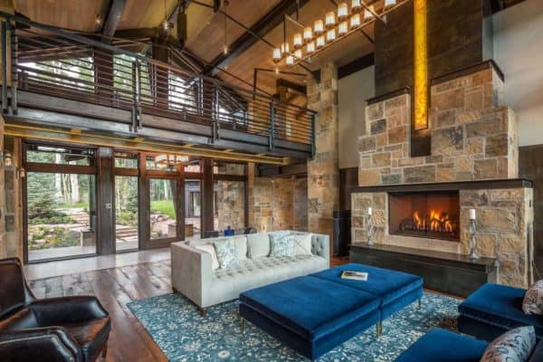 featured posts image for Gorgeous modern rustic mountain home in Telluride surrounded by aspens