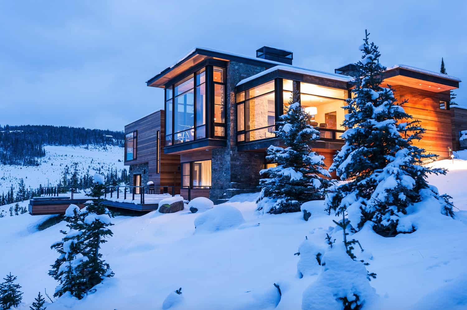 This beathtaking Rocky Mountain hideaway is an absolute dream house