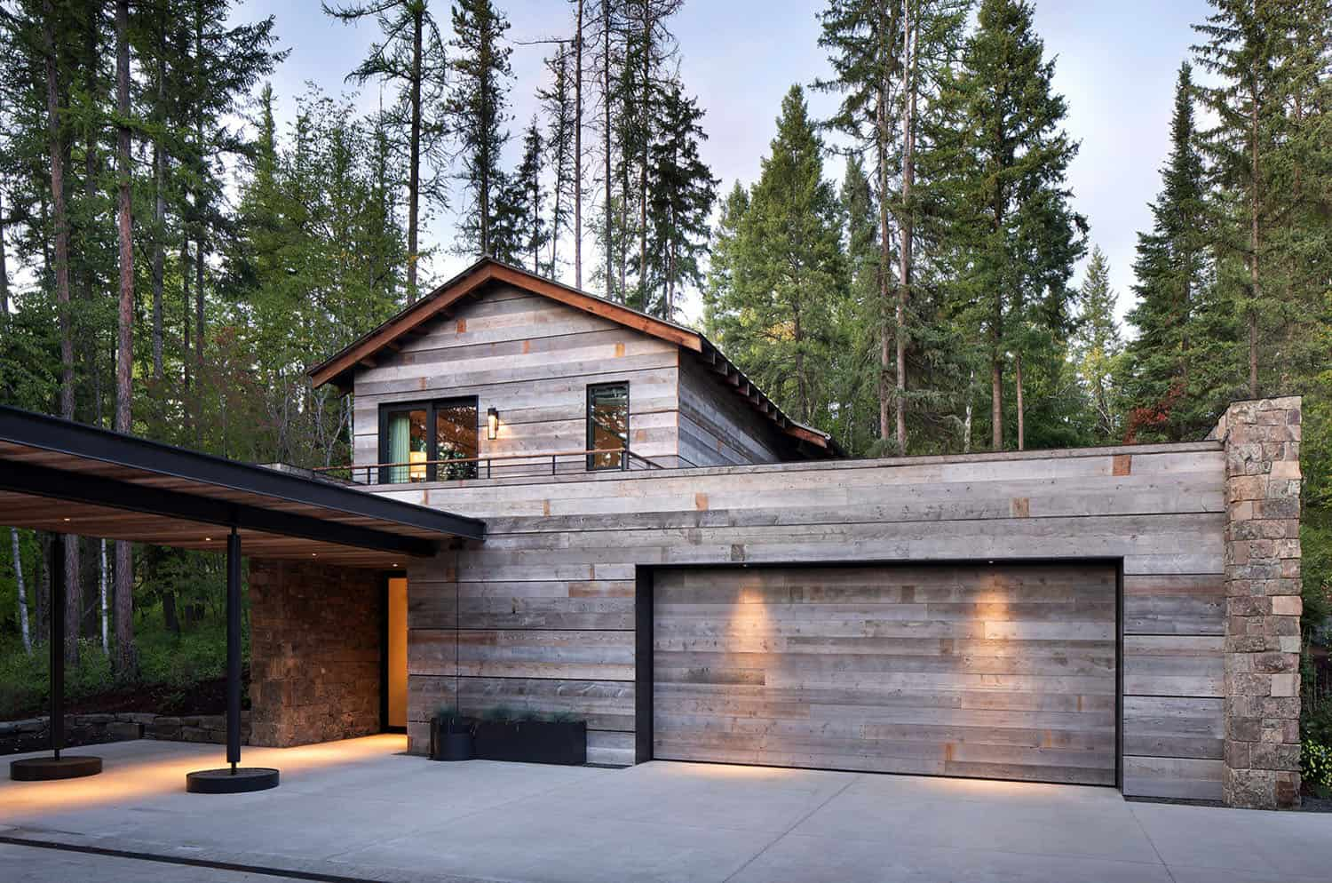 mountain-modern-lake-house-garage