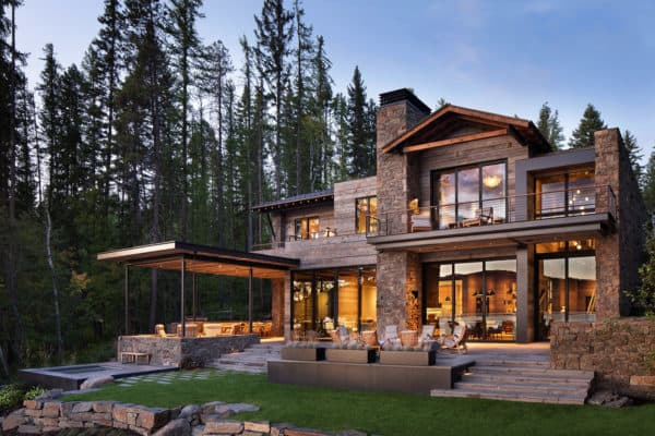 featured posts image for This mountain modern lakefront home in Montana is all about Zen