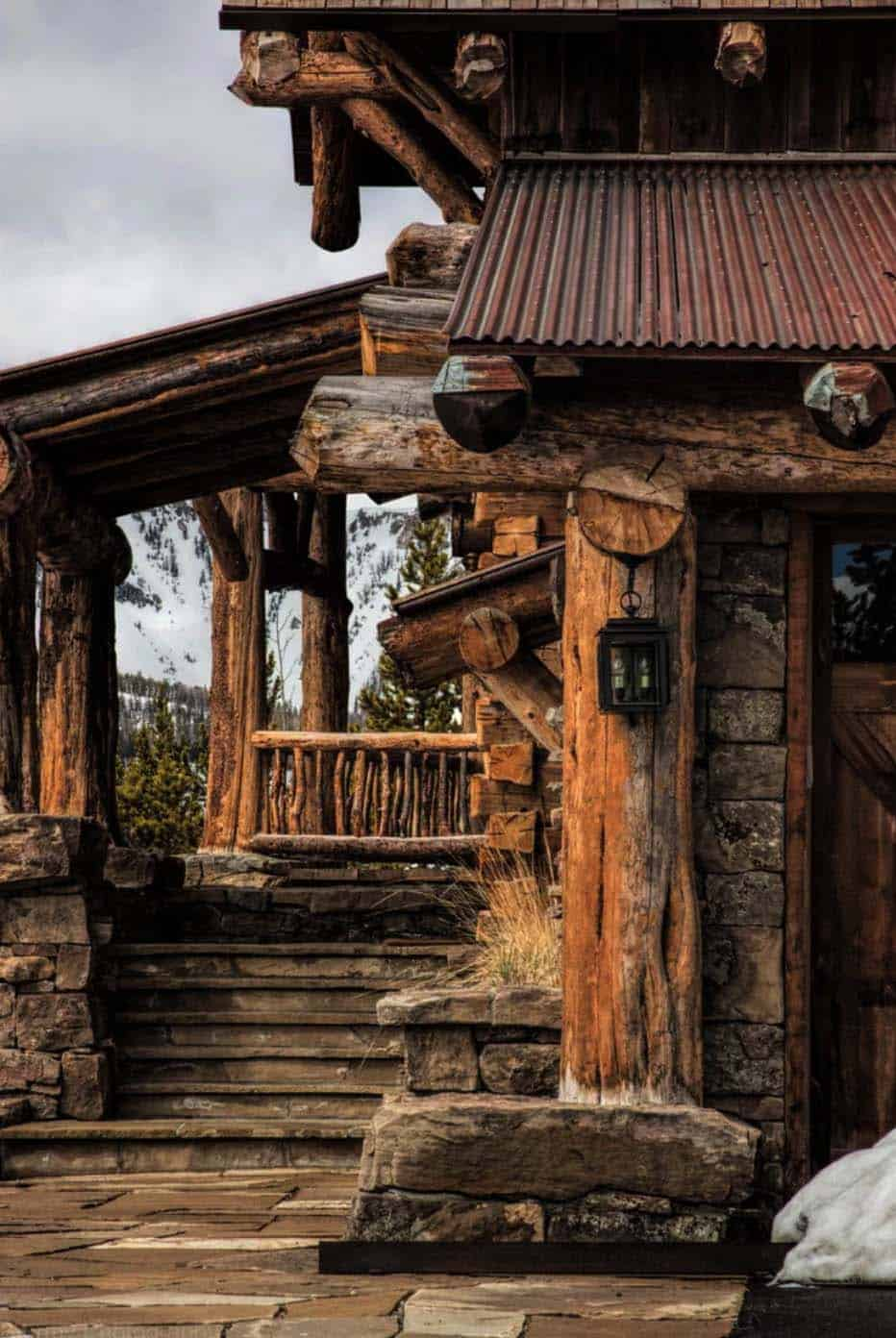 mountain-ski-lodge-rustic-entry