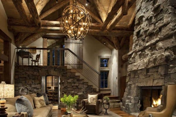 featured posts image for Ski lodge hideaway in Montana boasts gorgeous mix of rustic and industrial