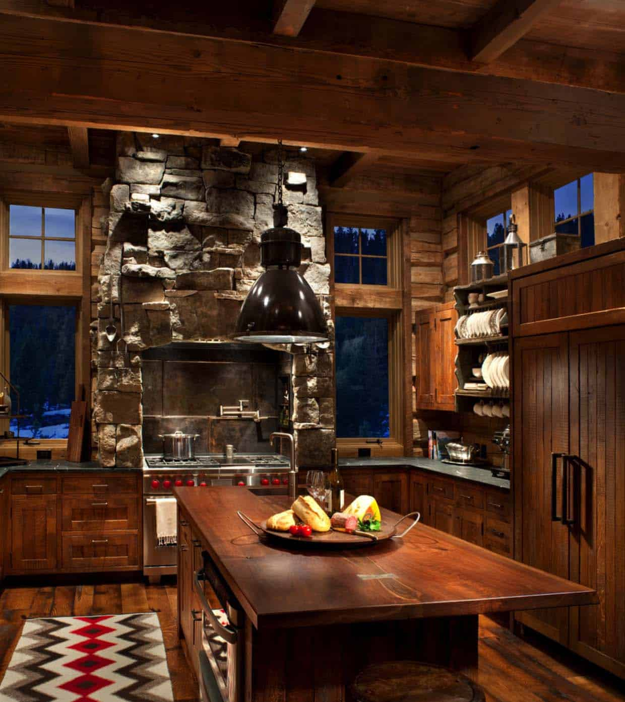 mountain-rustic-kitchen