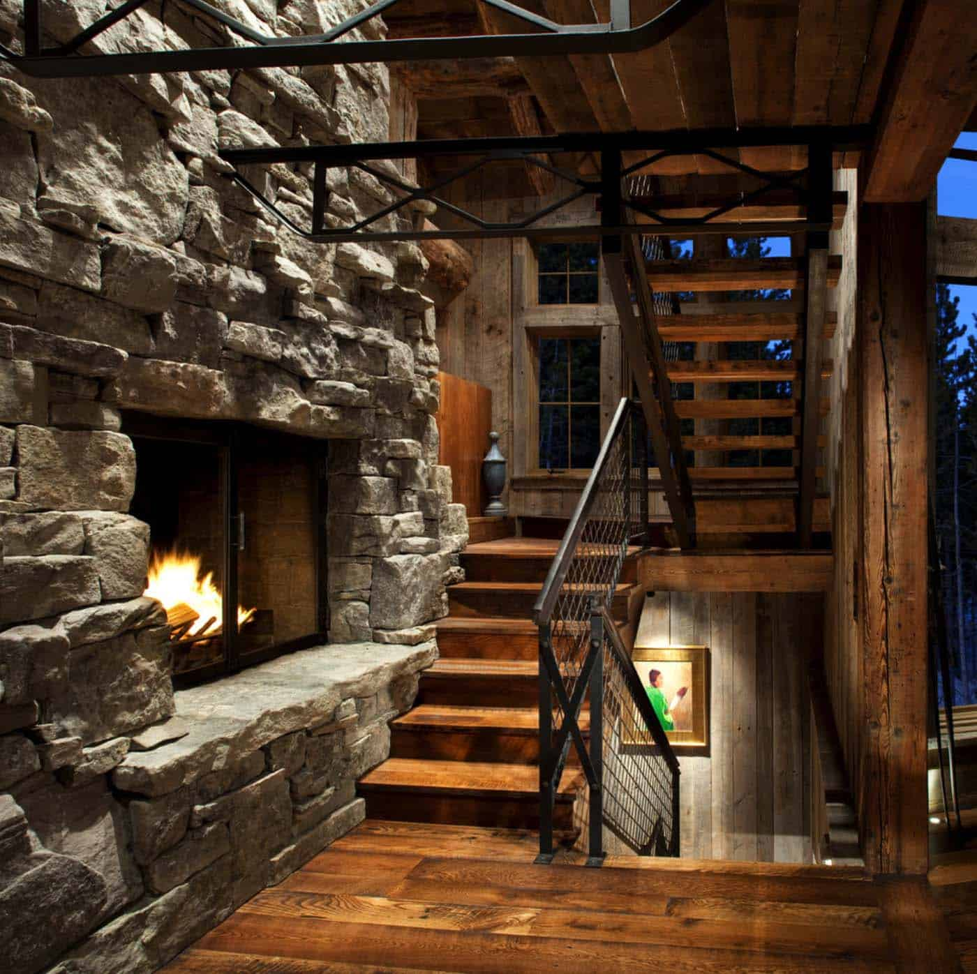 mountain-rustic-staircase