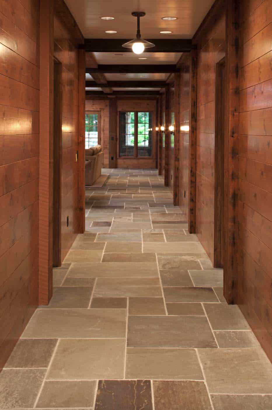 rustic-basement-hallway
