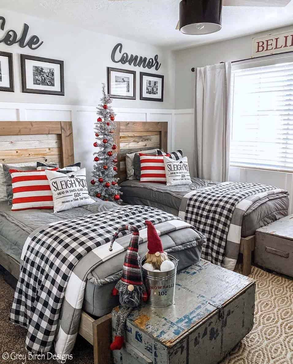 rustic-farmhouse-christmas-decorating-ideas-kids-bedroom