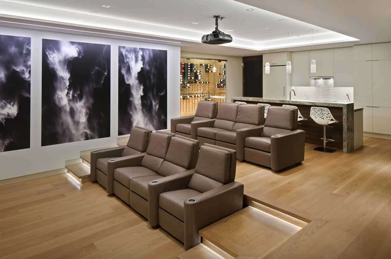 home-theater-with-bar-modern-basement