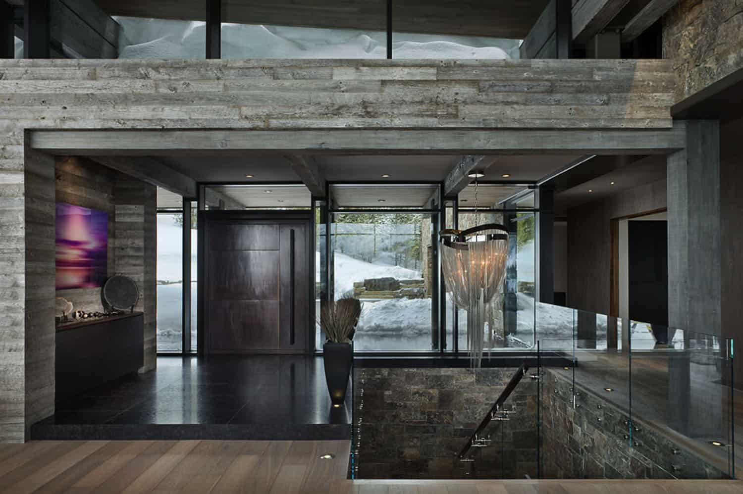 contemporary-mountain-chalet-entry
