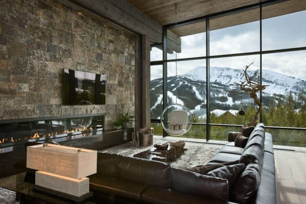 featured posts image for Jaw-dropping luxury mountain chalet in Montana hovers above the pines