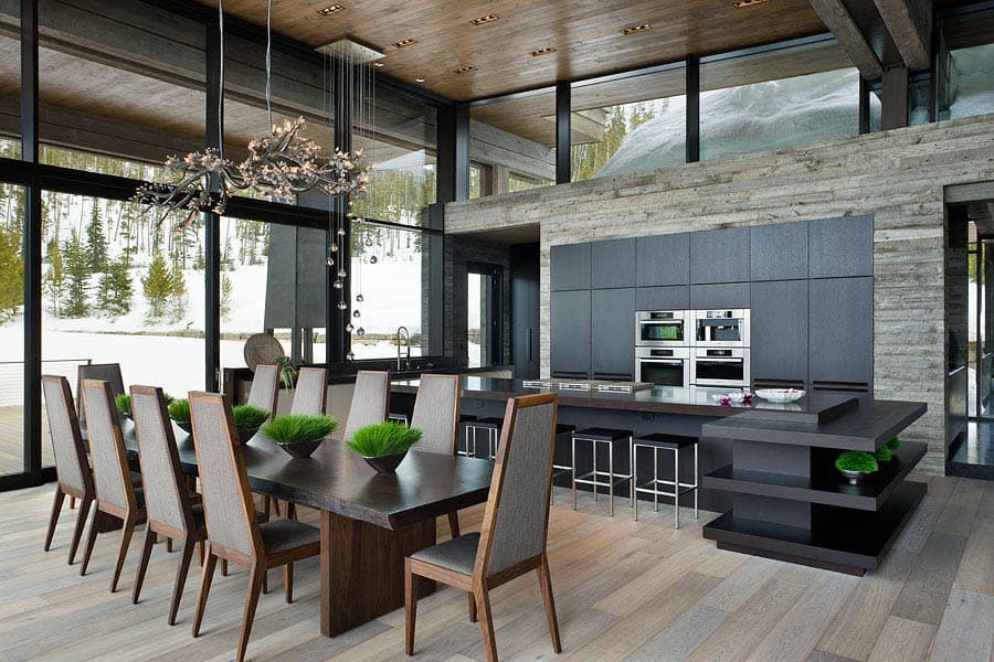 contemporary-mountain-chalet-kitchen