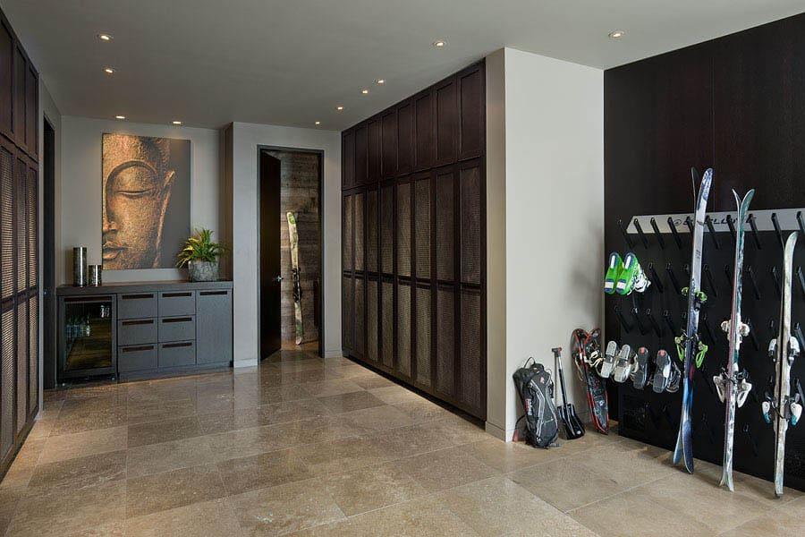 contemporary-ski-room-closet