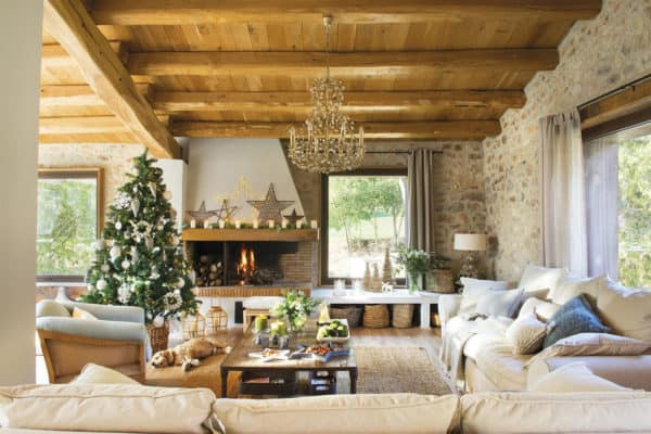 featured posts image for Converted barn house in rural Spain gets a magical Christmas makeover
