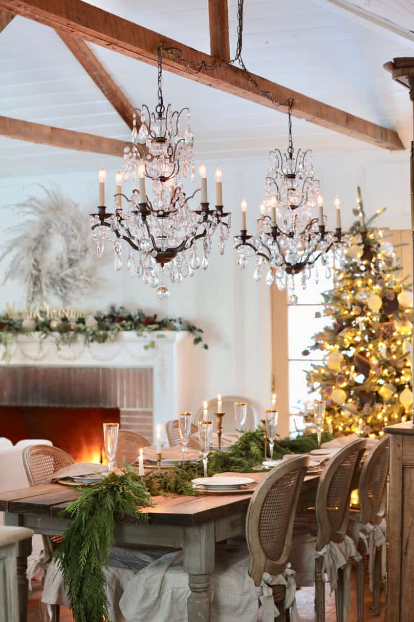 gorgeous-christmas-table-setting-ideas-modern-french-country